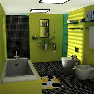 Picture of Green Bathroom Set