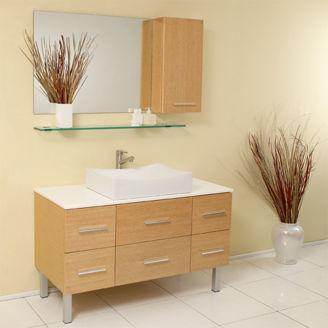 Picture of Wooden Bathroom Sink Set