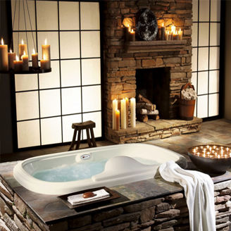 Picture of Clean White Jacuzzi